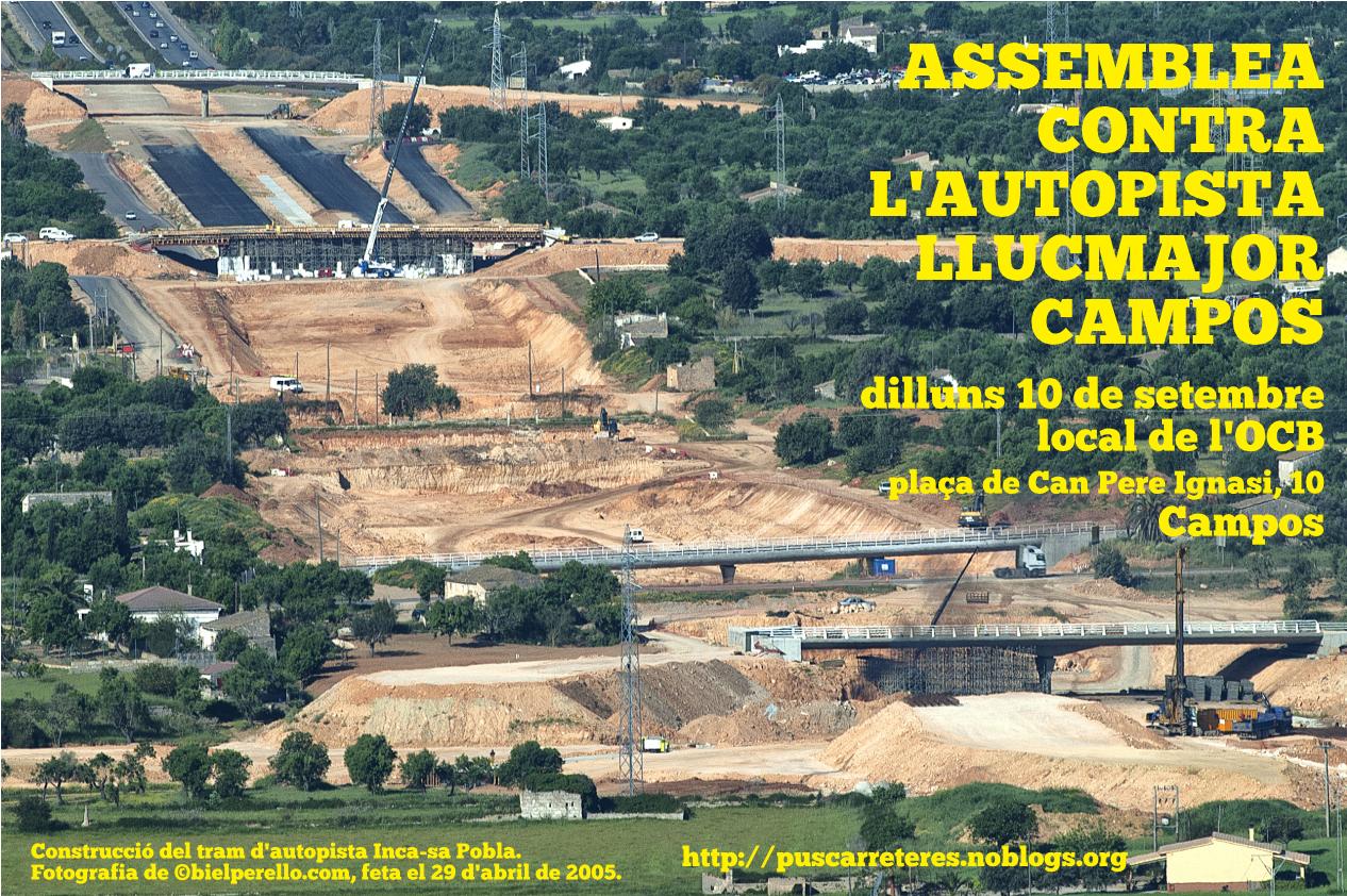 Assemblea contra l'autopista Llucmajor-Campos (10-09-18)